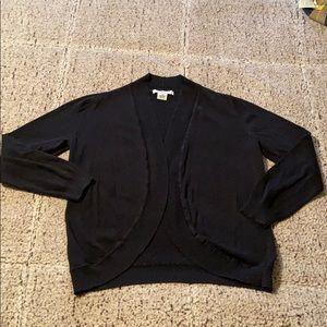 Black shrug cardigan
